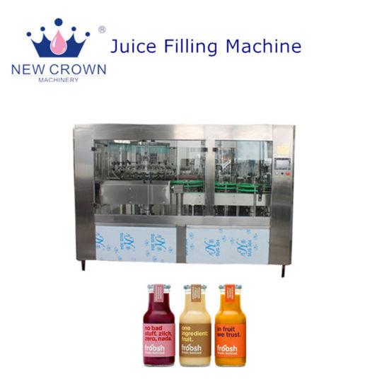 2018 New Design Monoblock 3-in-1 Automatic Glass Bottle Orange/Strawberry/Juice Filling Machine/Fresh Fruit Juice Filling Machine Price