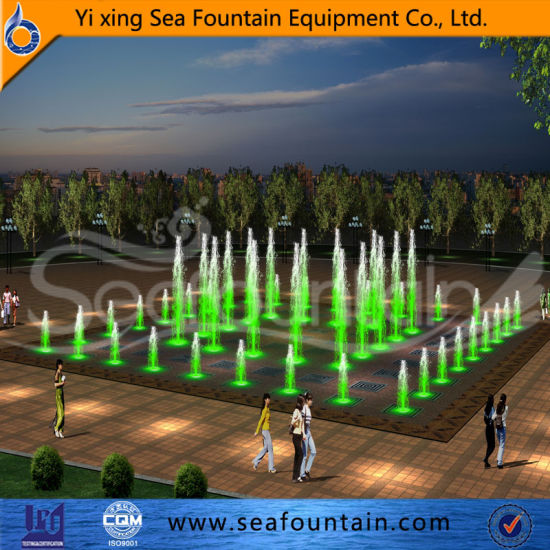 LED Lighting Music Dancing Floor Dry Fountain for Amusement Park pictures & photos