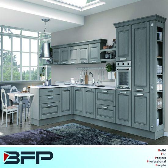 China American Style Luxury Solid Wood Kitchen Cabinets Wood Kitchen