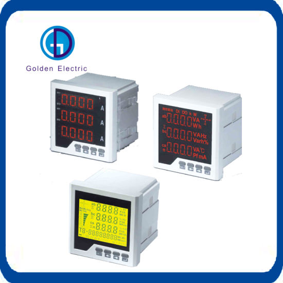 3-Phase AC Current Meter LCD Display