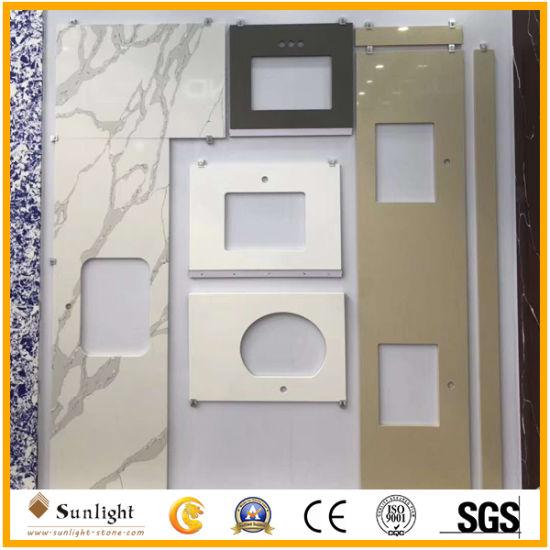 Custom White/Grey/Beige Quartz Stone Vanity Countertops for Kitchen/Bathroom