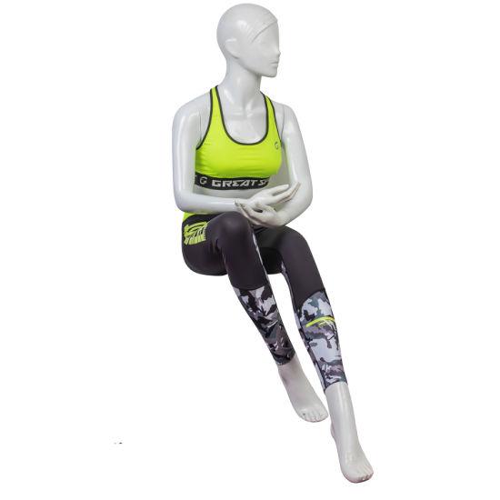 Wholesale Custom Jacquard Kintted Elastic Women Workout Thick Strap Yoga Wear Plain Sport Bras
