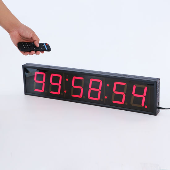 """4"""" Six Digits Indoor Larger Programmable LED Countdown Timer Clock"""