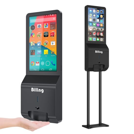 Advertising Media Players Digital Signage with Hand Sanitizers Dispenser