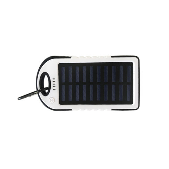 Outdoor Portable 5000mAh Solar Power Bank Phone Charger for Cellphones