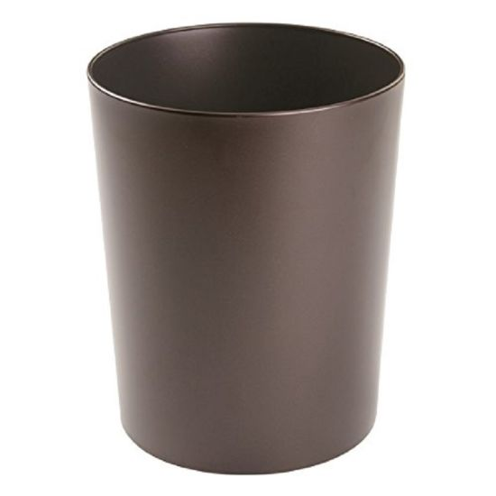 Round Metal Small Trash Can Wastebasket, Garbage Container Bin for Bathrooms, Powder Rooms, Kitchens, Home Offices