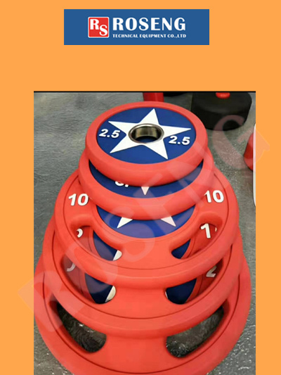 High Quality Color Rubber Barbell Discs