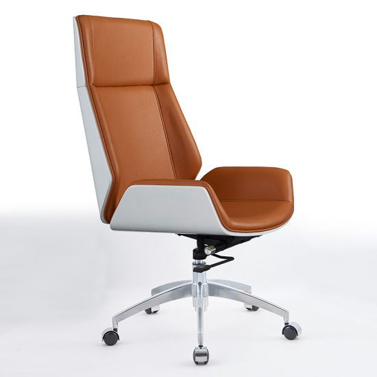 Metal Frame Pu Leather Executive Office Chair Ripple Black Leather Office Chair High Back Ergonomic Black Office Chair China Staff Computer Chair Leather Office Chair Made In China Com