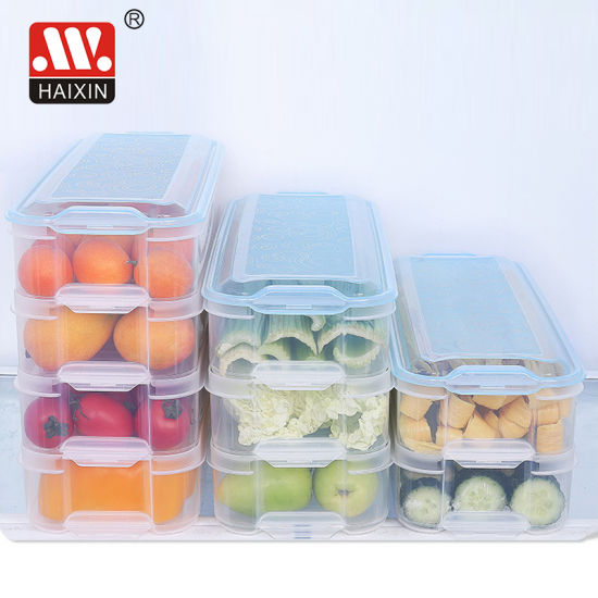 Plastic Freezer Airtight Food Freshness Storage Stackable Plastic Container
