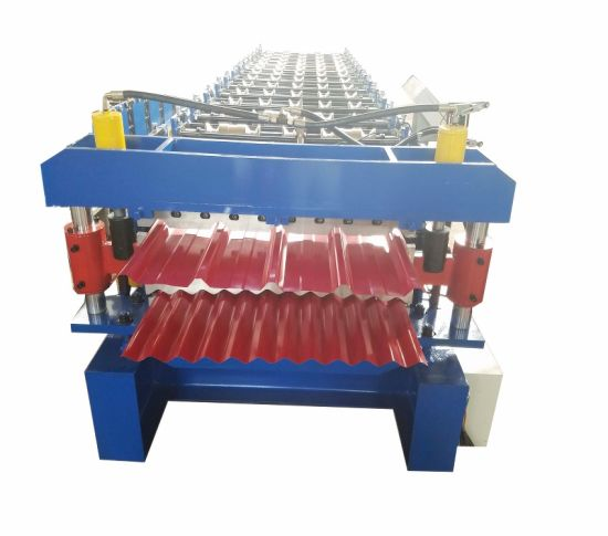 Double Deck Metal Sheet Roof Tile Making Machine for Roof