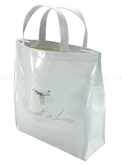 OEM Water Proof PVC Fashion Handle Promotional Shopping Bag pictures & photos