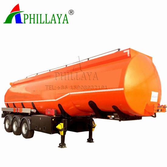 36000L Tri-Axle German Suspension Fuel Tanker Truck Trailer