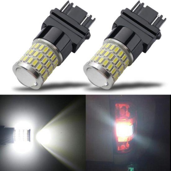 1Pair Car Reverse//Backup//Tail//Brake Light Bulbs 54-SMD 3157 4114 Super White LED