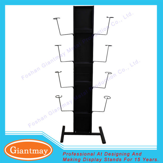 Metal Floor Standing Hanging Motorcycle Helmet Display Rack pictures & photos