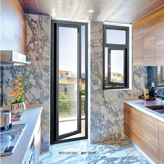 China Commercial Double Glazed Aluminium Door For Interior Door Ft