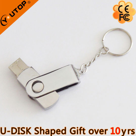 Hot Laser Logo Swivel Metal USB Stick for Meeting Gifts (YT-1259) pictures & photos