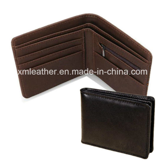 Leather Name Card Holder Men Money Clip Wallet with Logo pictures & photos