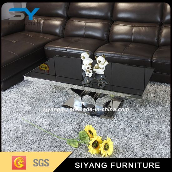 China Living Room Furniture Coffee Table Set Glass Centre Table ...