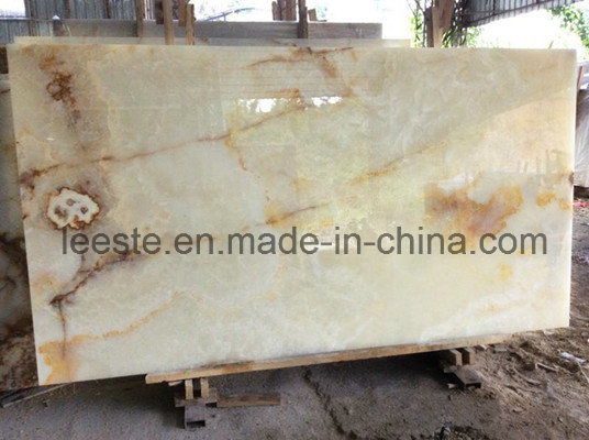 China Best White Jade Onyx Marble Stone Tile for Flooring Tile pictures & photos