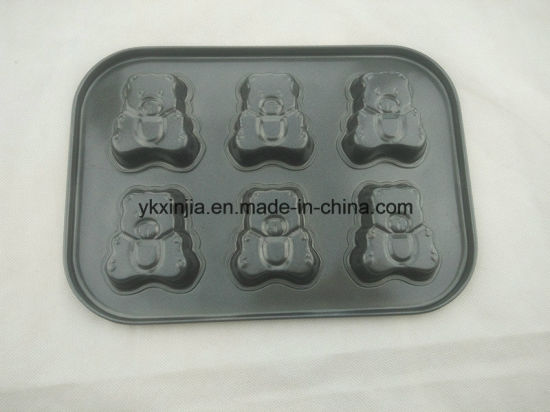 6 Cup Little Bear Nonstick Cake Pan Carbon Steel Bakeware pictures & photos