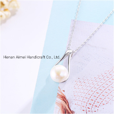 Fashion Wishbone Pearl Necklace Jewelry Charming 925 Silver Necklace pictures & photos