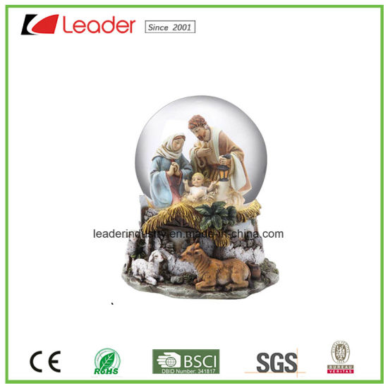 Polyresin Craft 60mm Snow Globe with Angel Figurine for Home Decoration and Souvenir Gift pictures & photos