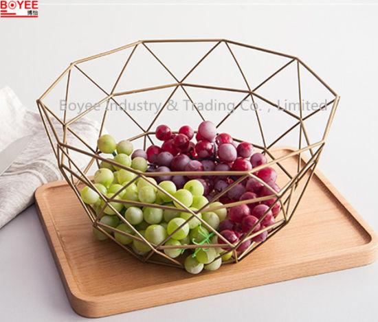 Hot Tabletop Metal Wire Kitchen Vegetable Holder Fruit Rack