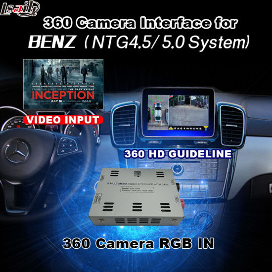 Rear View & 360 Panorama Interface for Mercedes-Benz with Ntg-5.0 Audio20 Command System Lvds RGB Signal Input Cast Screen pictures & photos