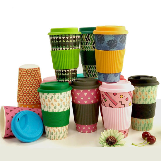 Eco Friendly Bamboo Fibre Cups Travel Coffee Mugs Reusable Coffee Cup Custom pictures & photos