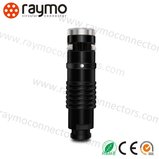 Black Chrome Colour Circular Outdoor Waterproof Cable Mounted Indutial Camera Connecto for Red One Device pictures & photos