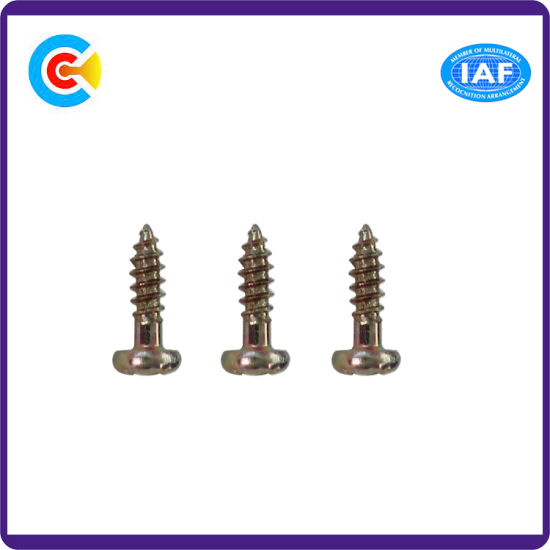 Stainless Steel/4.8/8.8/10.9 Galvanized Philips Pan Screw for Building Bridgerailway Machine pictures & photos