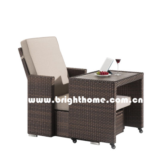 Leisure Sun Lounger Outdoor Wicker Furniture pictures & photos