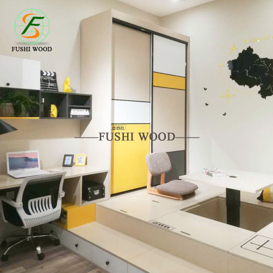 Wholesale Modern Bedroom Furniture Melamine Chipbobard Wardorbe pictures & photos