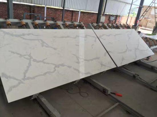 Wholesale Engineered Stone Calacatta Quartz Slab