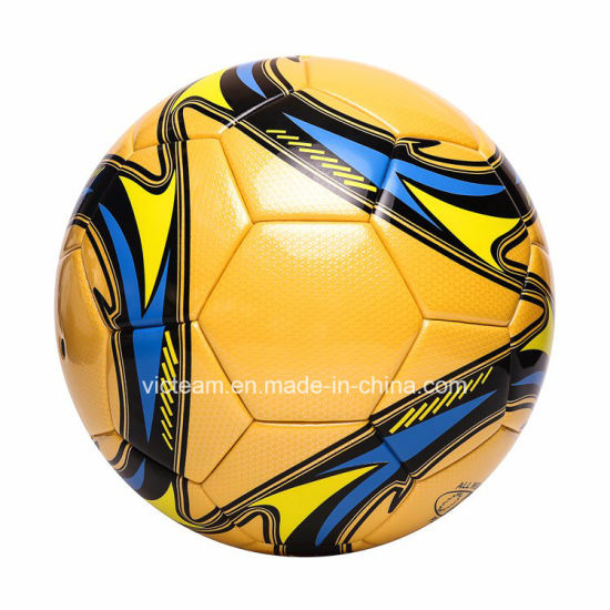 Durable PU Material Size 5 Laminated Soccer Ball pictures & photos