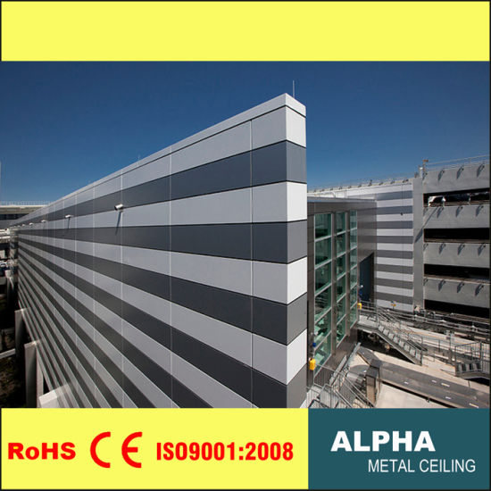 Aluminum Metal Wall Panels Facades Cladding with Color Pattern
