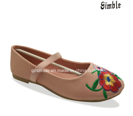 a045fcc6c China Child Leather Entire Outsole Ballet Slippers Embroider Shoes ...