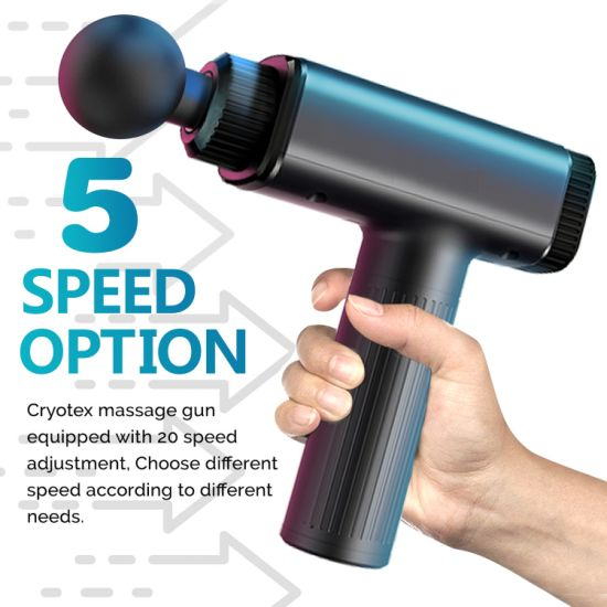 2021 High Quality Strength Equipment Handheld Percussion Deep Tissue Massager Touch Screen Exercise Muscle Massage Gun
