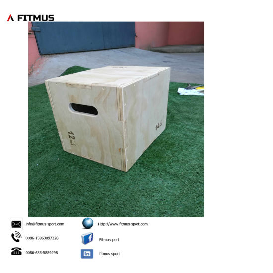 Small Wooden Plyometric Box 12inch 16inch 18inch pictures & photos