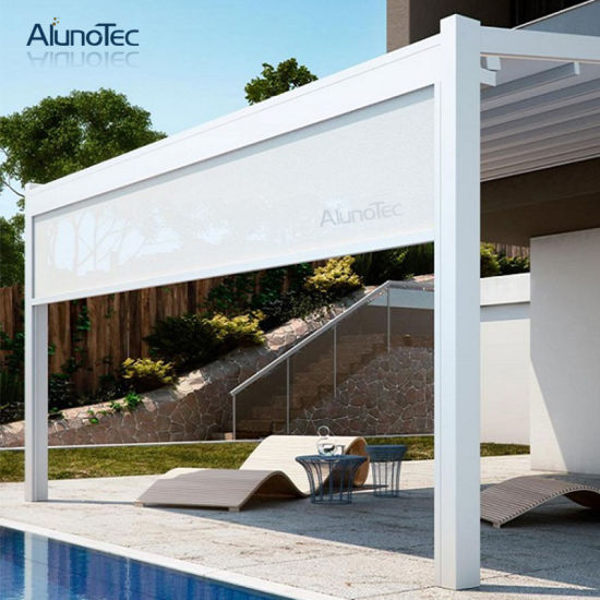 Outdoor Retractable Pergola Roof Opening Closing Aluminum Awning for Backyard