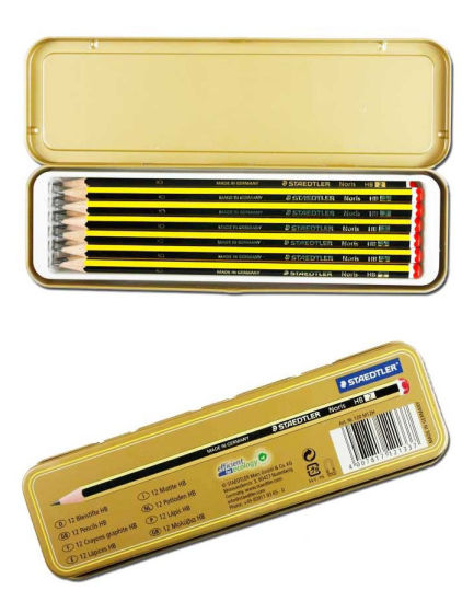 Top-Quality Tin Case for Pencils