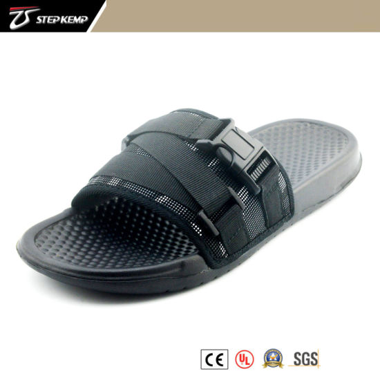 Fabric Canvas Black Men Fashion Shoes Casual Sandals Exs-5319