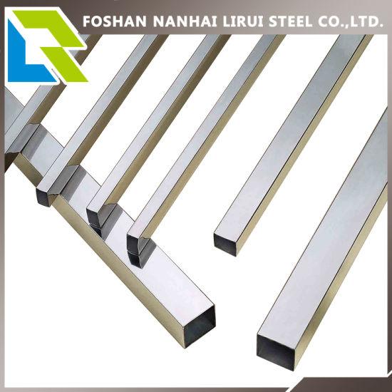304 Grade Rectangular Stainless Steel Tube