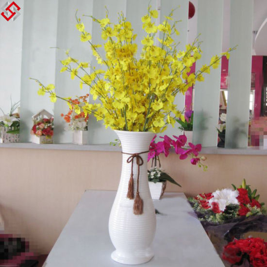 New 100cm Tall Artificial Silk Flowe Yellow Dancing Lady Orchid Fake Flower Arrangement China Artificial Flower And Artificial Silk Flower Price Made In China Com