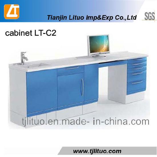 Good Quality Blue Color Metal Dental Cabinets