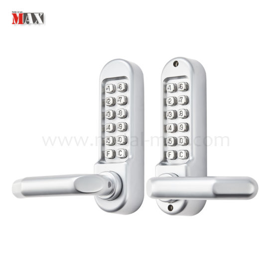 Codelock Door Security Safe Mechanical Dual Push Button Keypad Lever Handle  Keyless Combination Lock