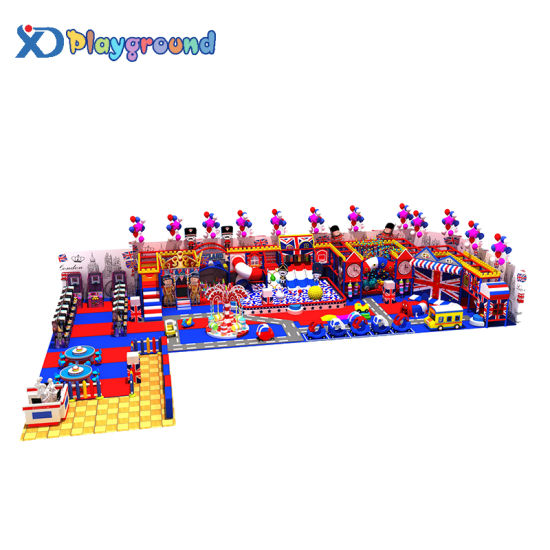 Adventure Theme London Color Indoor Playground Equipment with Slides