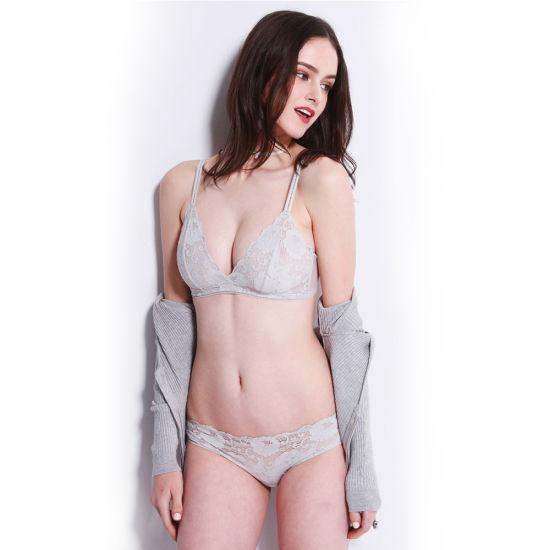 cdd3a23523026 China Sexy Sheer Lace See Through Transparent Bra Set - China ...