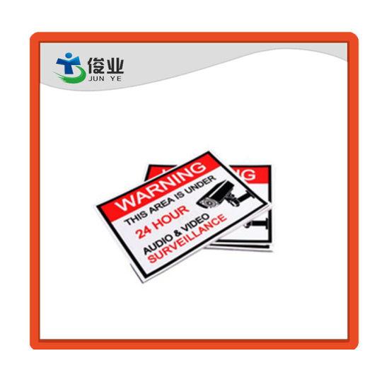 Safety Warning Custom Printed Vinyl Sticker Labels