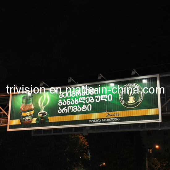 Outdoor Double Side Scrolling Advertising Billboard with Pole (F3V-131S) pictures & photos
